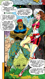 What Rogue's wearing was actually our school uniform back in 1992! (Uncanny X-Men #294)